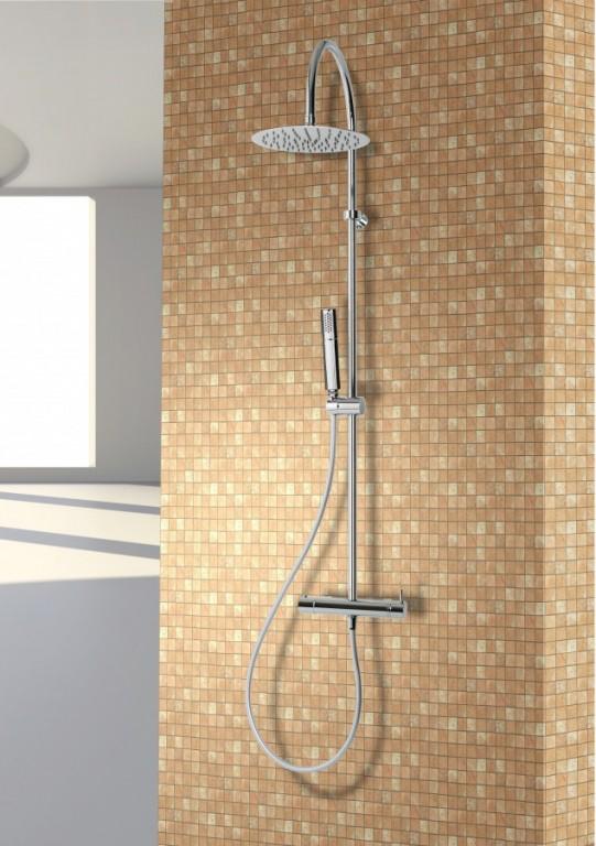 Sprchový panel s termostatickou baterií ARECO FLAT Therm