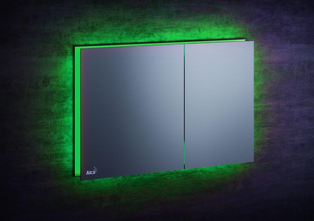Ovládací WC tlačítko FLAT ALUNOX s podsvícením Air Light Green