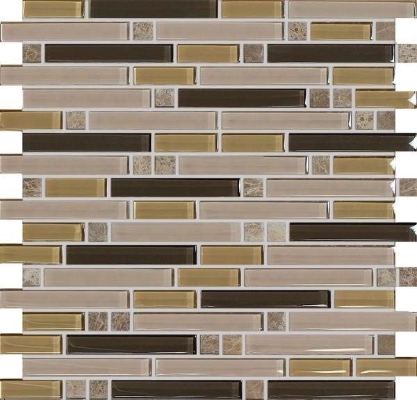 Mozaika Hnědá Mix ST15Z-13 30,5 x 30,5 cm