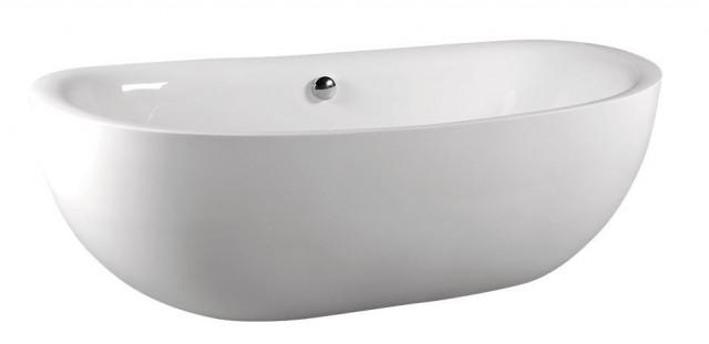 Volně stojící akrylátová vana ZASU 180x81x58 cm, bílá