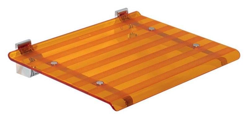 Sprchové sedátko LEO 40x31cm, oranžová