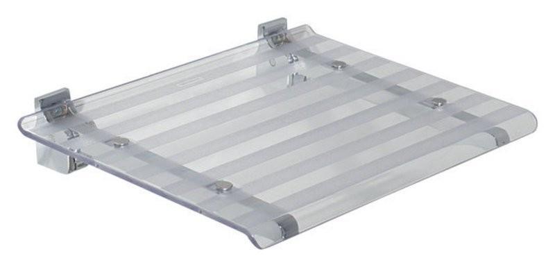 Sprchové sedátko LEO 40x31cm, transparentní