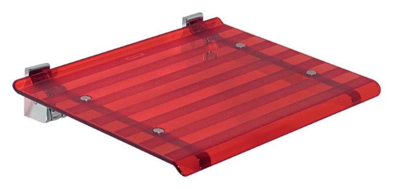 Sprchové sedátko LEO 40x31cm, červená