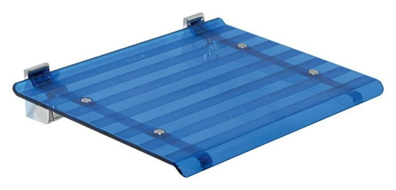 Sprchové sedátko LEO 40x31cm, modrá