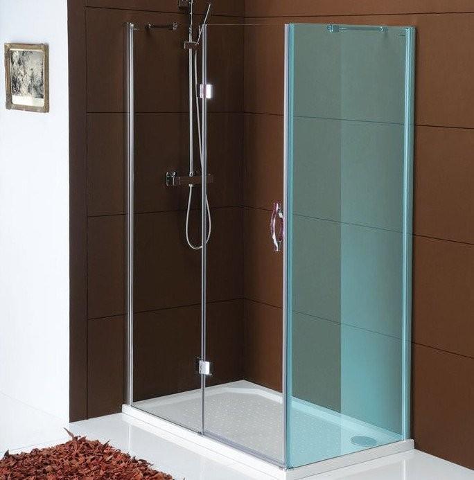 Bezrámové pantové sprchové dveře LEGRO, čiré sklo