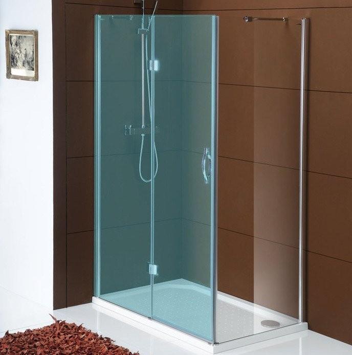 Bezrámová boční sprchová stěna LEGRO 700mm, čiré sklo