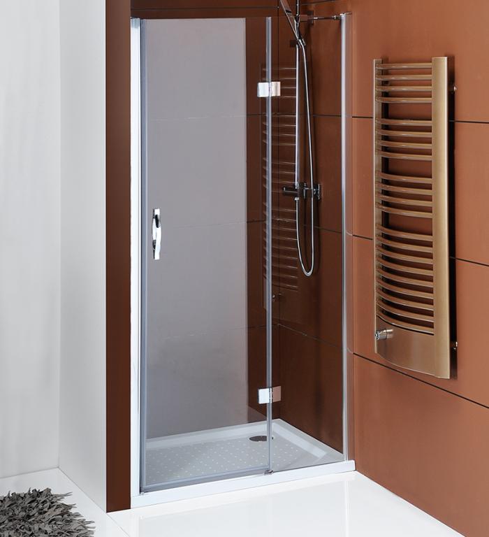Bezrámové pantové sprchové dveře do niky LEGRO, čiré sklo
