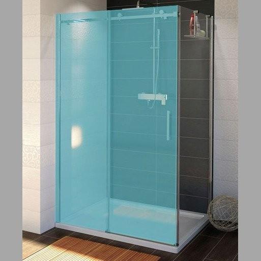 Bezrámová boční sprchová stěna DRAGON, čiré sklo
