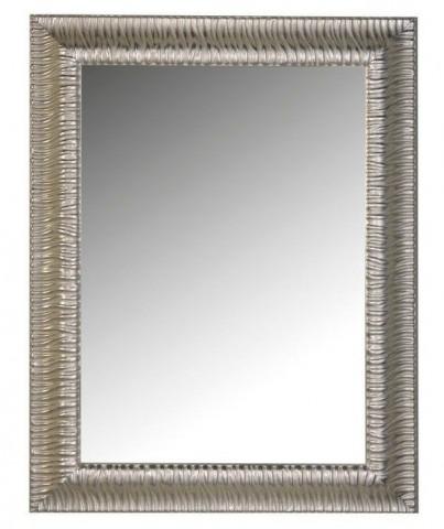 Zrcadlo v dřevěném rámu MANDRE stříbrná