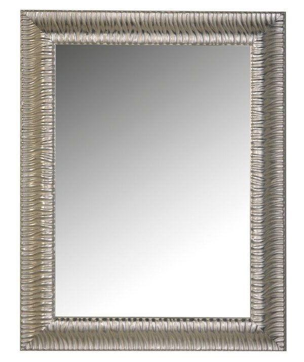 Zrcadlo v stříbrném dřevěném rámu MANDRE