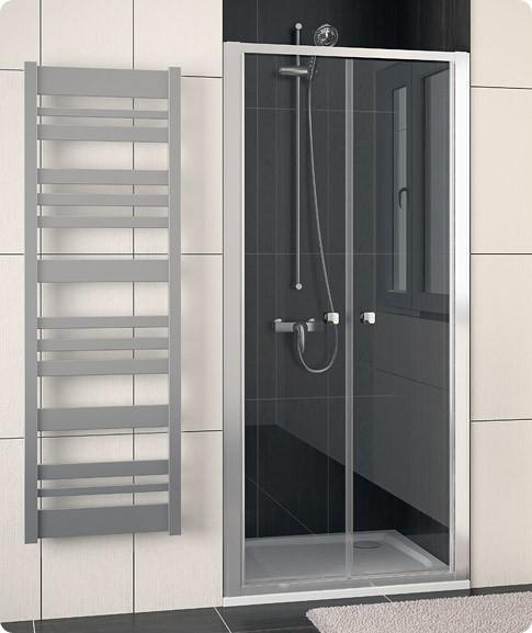 Dvoukřídlé sprchové dveře ECO-LINE ECP2 80 cm