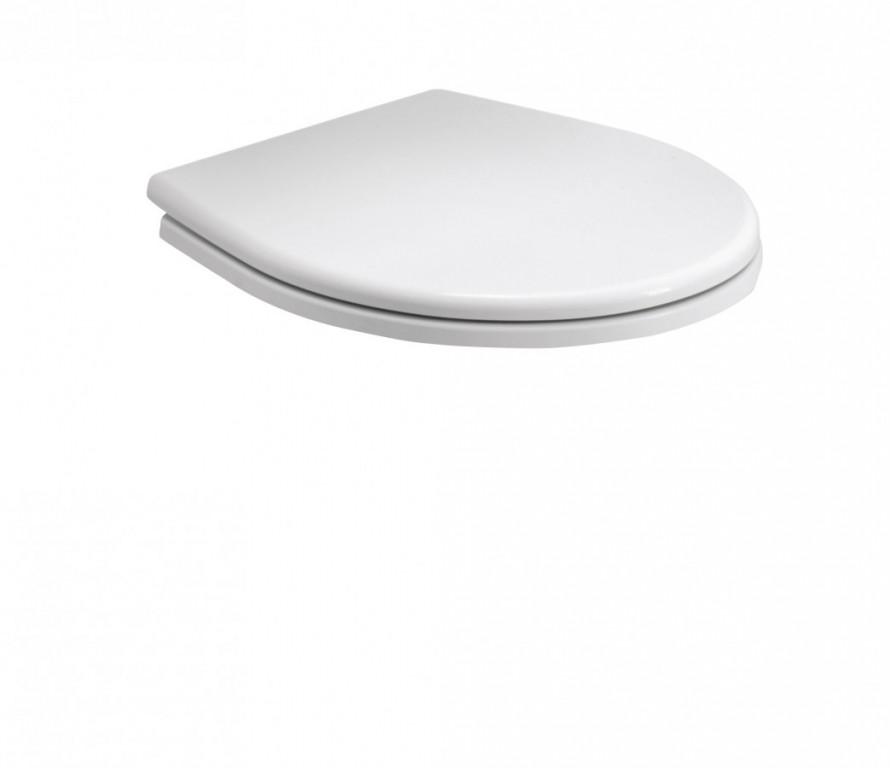 WC sedátko Duroplast REKORD s automatickým sklápěním, tvrdé bílé