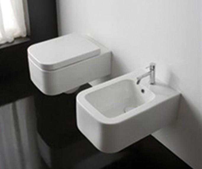 Závěsná keramická WC mísa SCARABEO Next