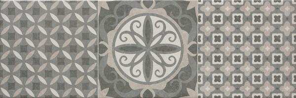 Interiérová retro dlažba JOB TEAM Gris - mix dekorů