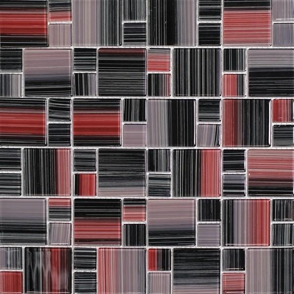 Mozaika Červená Mix NO-66 30 x 30 cm