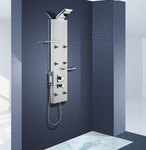 Nástěnný sprchový panel s pákovou baterii DEDRA