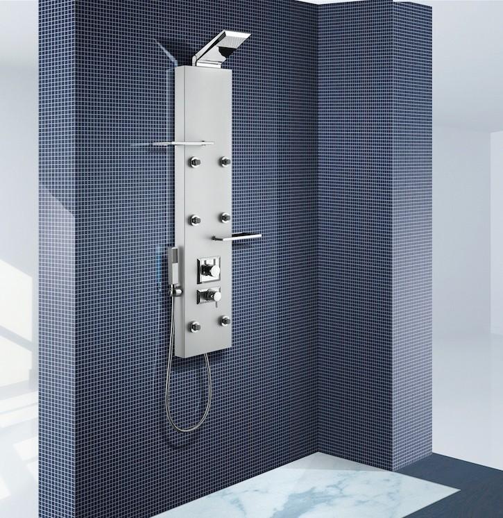 Nástěnný sprchový panel s pákovou/termostatickou baterií DEDRA