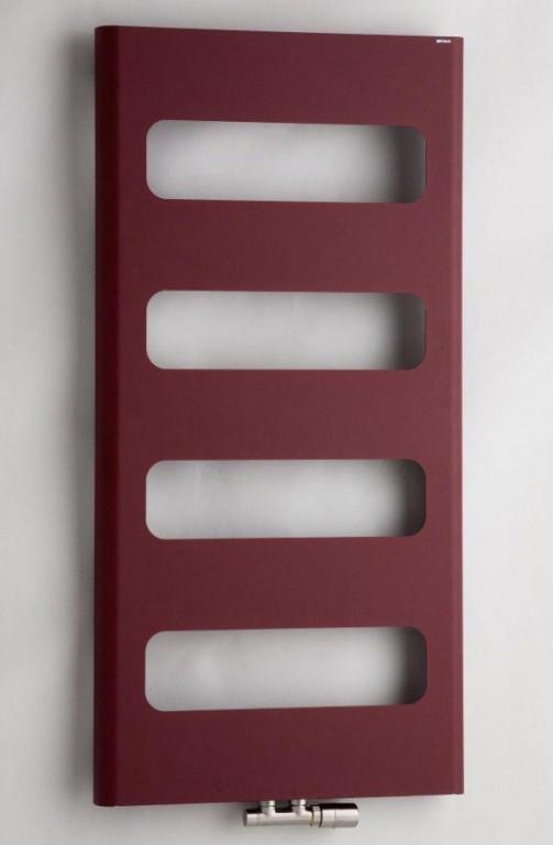 Koupelnový radiátor provedení strukt. barva bordó RETRO