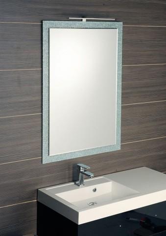 Zrcadlo lepené na skle GLAMOUR 100 x 70 cm