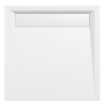 Sprchová vanička z litého mramoru se záklopem, čtverec ARENA 90x90x4cm