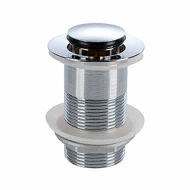 Uzavíratelný odtokový ventil k umyvadlu bez přepadu chrom Click-Clack Twins
