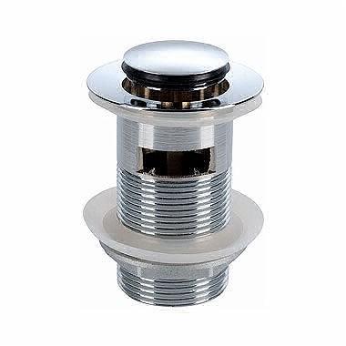 Uzavíratelný odtokový ventil k umyvadlu s přepadem chrom Click-Clack Twins