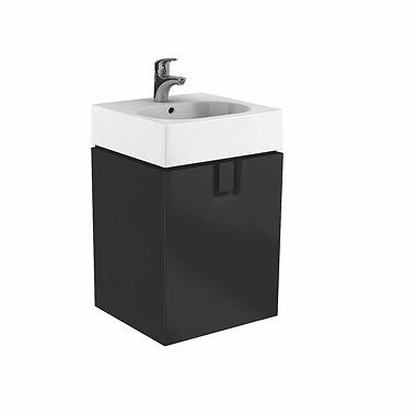 Závěsná skříňka s dvířky pod umyvadlo TWINS 60 cm černá matná