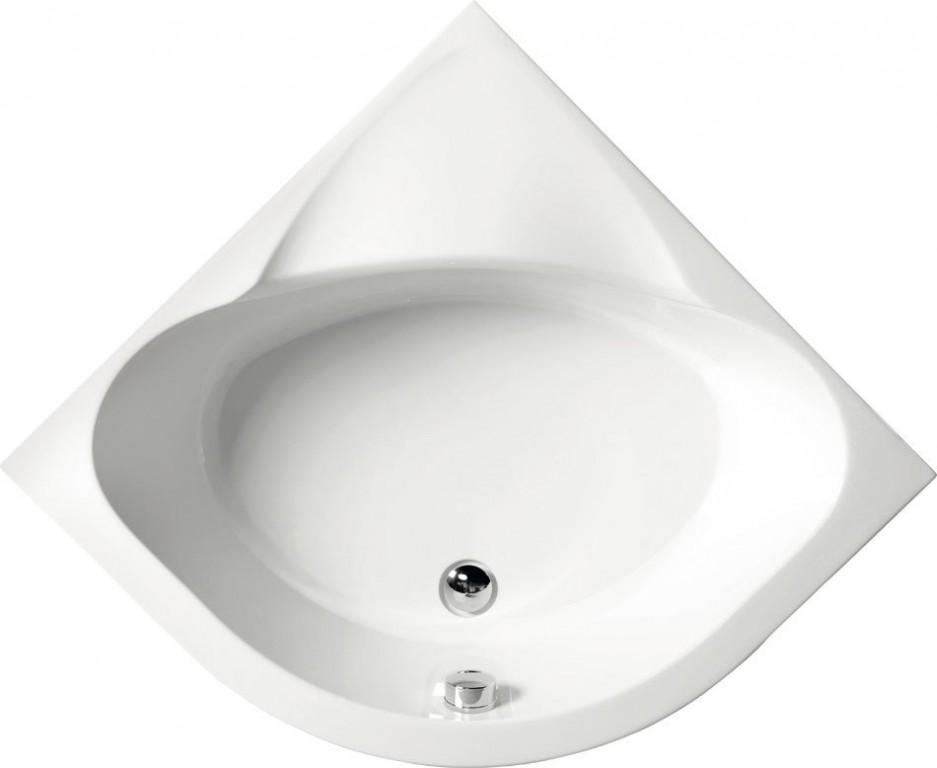 Sprchová vanička čtvrtkruhová SELMA 90x90x30cm, R55, hluboká, bílá s podstavcem