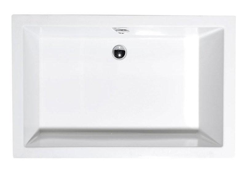 Sprchová vanička hluboká DEEP, bílá s podstavcem