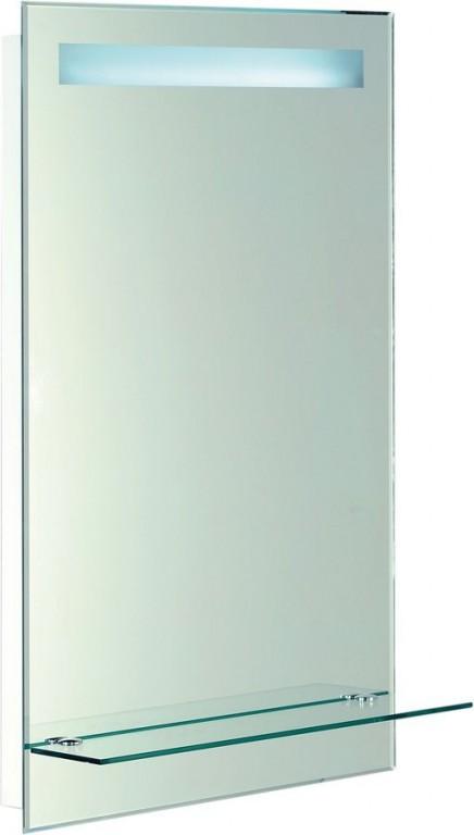Podsvícené zrcadlo s policí 50x80 cm