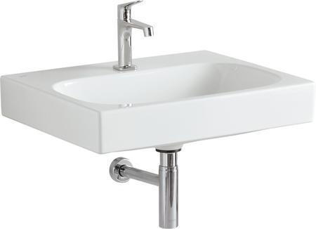 Keramické umyvadlo CITTERIO bez přepadu s otvorem, 60x50 cm