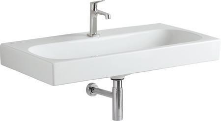 Keramické umyvadlo CITTERIO bez přepadu s otvorem, 90x50 cm