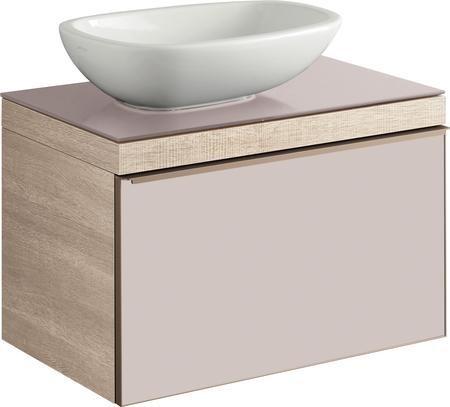 Keramické umyvadlo na desku CITTERIO bez přepadu, 56x40 cm