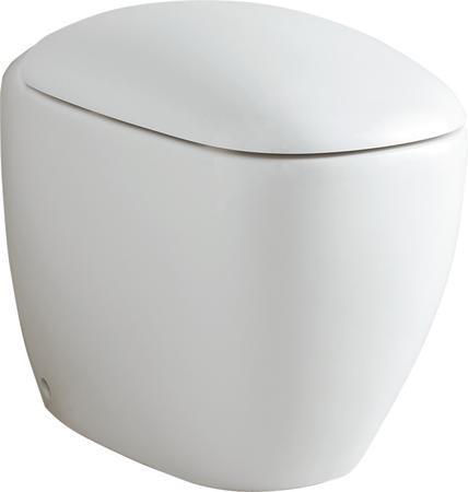 Stojící keramická WC mísa CITTERIO, včetně upevnění, 36x56x41 cm