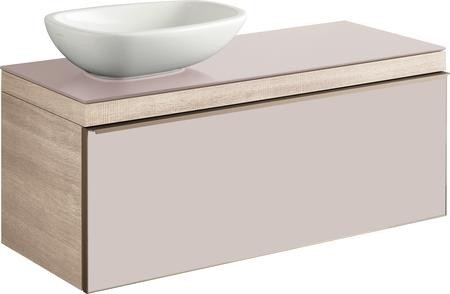 Umyvadlová skříňka CITTERIO samostatná, pro umyvadlo 56 cm na desku, provedení světlý dub, 118,4x54,3x50,4 cm