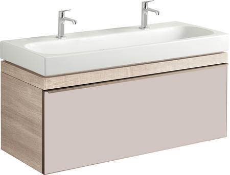 Umyvadlová skříňka CITTERIO samostatná, pro dvojumyvadlo 120 cm, provedení světlý dub, 118,4x55,4x50,4 cm