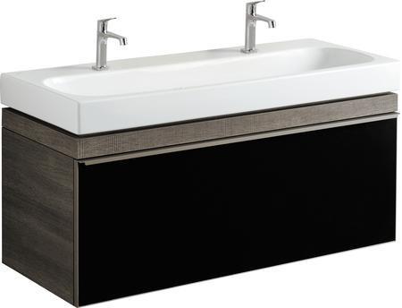 Umyvadlová skříňka CITTERIO samostatná, pro dvojumyvadlo 120 cm, provedení šedohnědá, 118,4x55,4x50,4 cm
