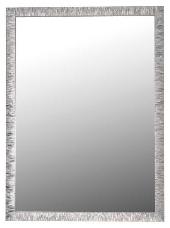 Zrcadlo v stříbrném dřevěném rámu COMADE