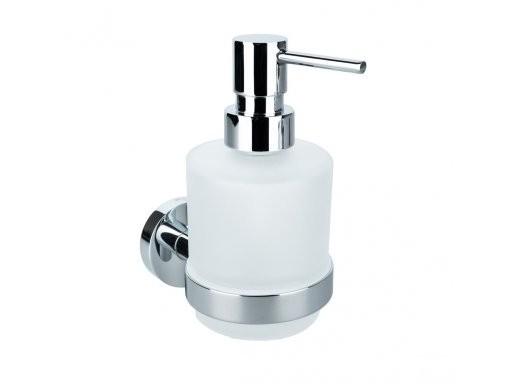 Dávkovač tekutého mýdla chrom - sklo OMEGA Mini 7,5 x 15 x 10 cm