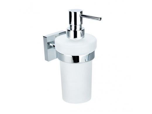 Dávkovač tekutého mýdla chrom - sklo BETA 7,5 x 18 x 10 cm, 250 ml