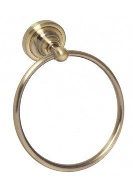 Držák ručníků - kruh bronz RETRO 16 x 19 x 65 cm
