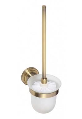 WC štětka bronz RETRO 11 x 36 x 15 cm miska sklo