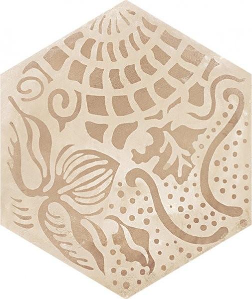 Šestiúhelníková dekorativní dlažba TERRA Floreale C