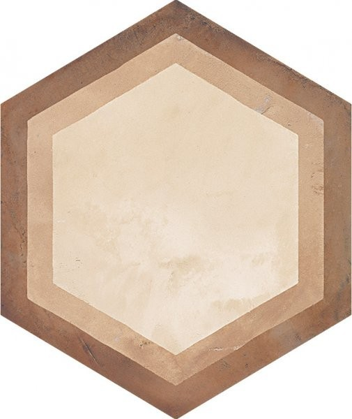 Šestiúhelníková dekorativní dlažba TERRA Cornice C