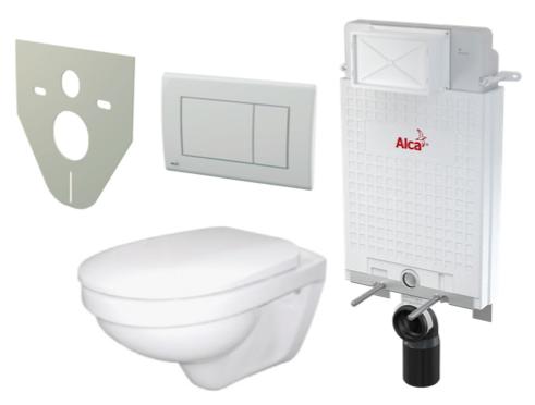 Akční WC Alca set 5 v 1, předstěnový instalační systém pro zazdívání A100/1000 Alcamodul