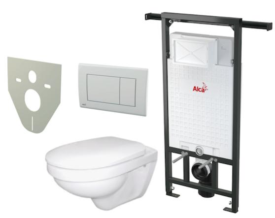 Akční WC Alca set 5 v 1, předstěnový instalační systém pro suchou instalaci pro bytové jádra A102/1200 Jádromodul