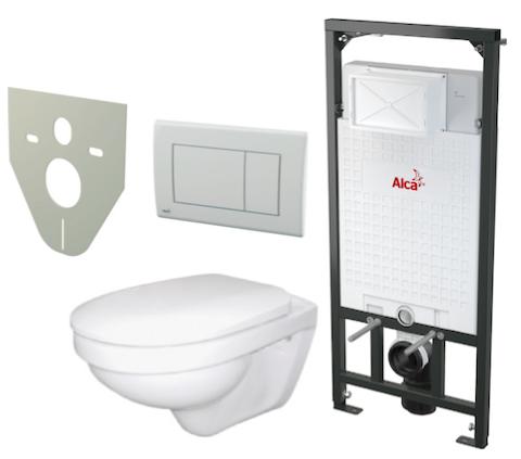 Akční WC Alca set 5 v 1, předstěnový instalační systém pro suchou instalaci A101/1200 Sádromodul