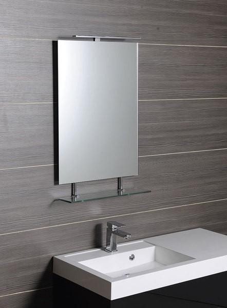 Obdélníkové zrcadlo WEGA s policí 60 x 80 cm
