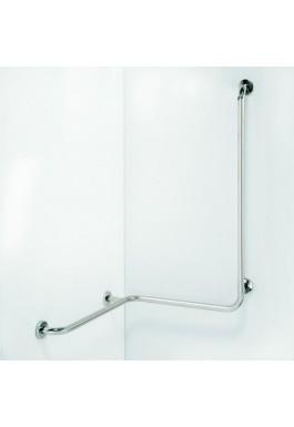 Madlo do sprchy s hladkou svislou opěrou nerez HELP 118 x 71 x 71 cm pravá