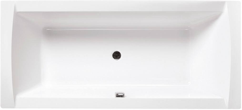 Obdélníková akrylátová vana LINEA 180 x 80 cm